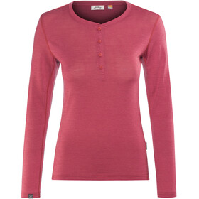 Lundhags Merino Light LS Henley Shirt Women Garnet
